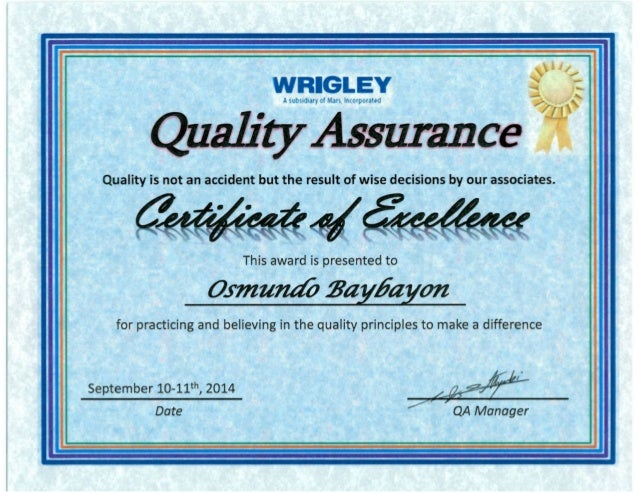 certificate qa slideshare excellence upcoming