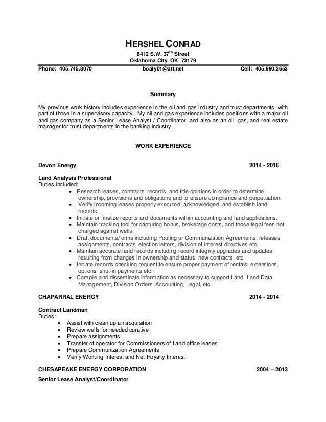 Hershel Conrad resume