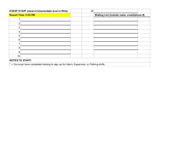 Mens hockey sign up sheet – Sign Up Sheets for Events