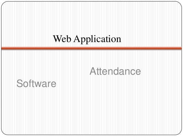 Web Application Attendance Software