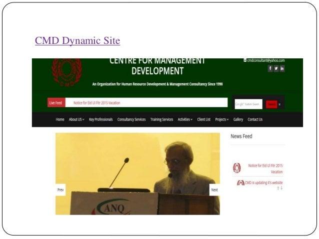 CMD Dynamic Site