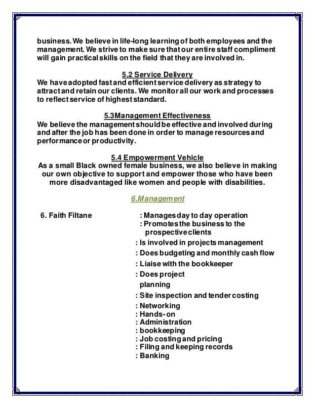 BUSINESS PROFILE of Faith Zanele Filtane – How to Make Business Profile
