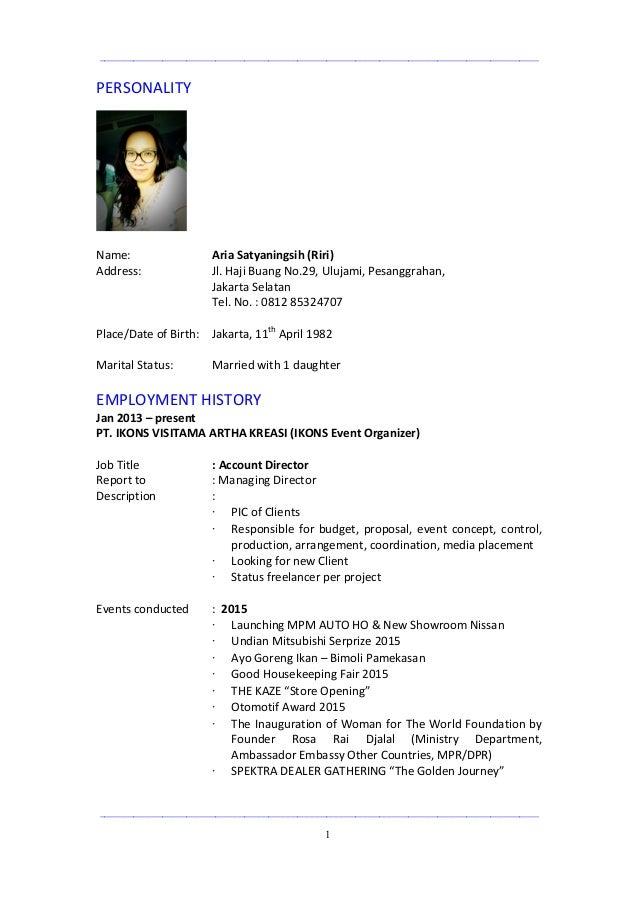 Riri Aria S Profile Cv Updated