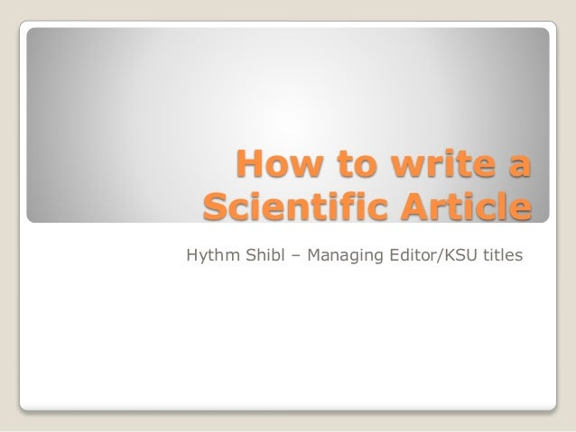 Tips for writing your first scientific literature review article
