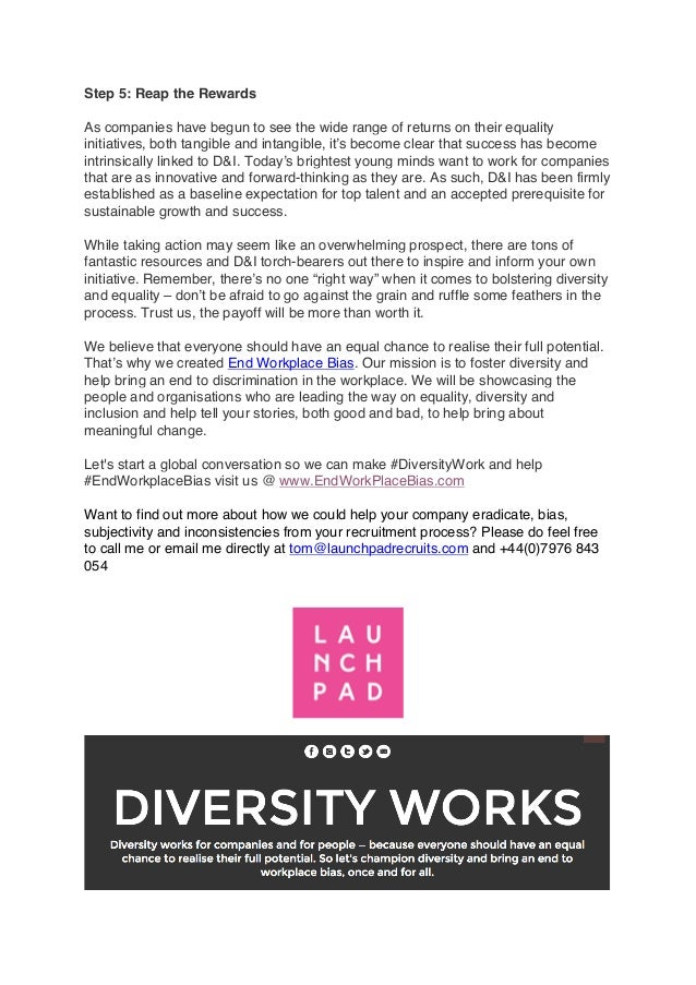 Essay: Diversity in the Workplace