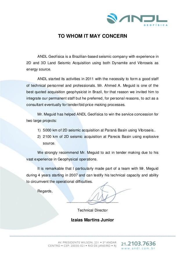 TO WHOM IT MAY CONCERN ANDL Geofísica is a Brazilian-based seismic company with experience in 2D and 3D Land Seismic Acqui...