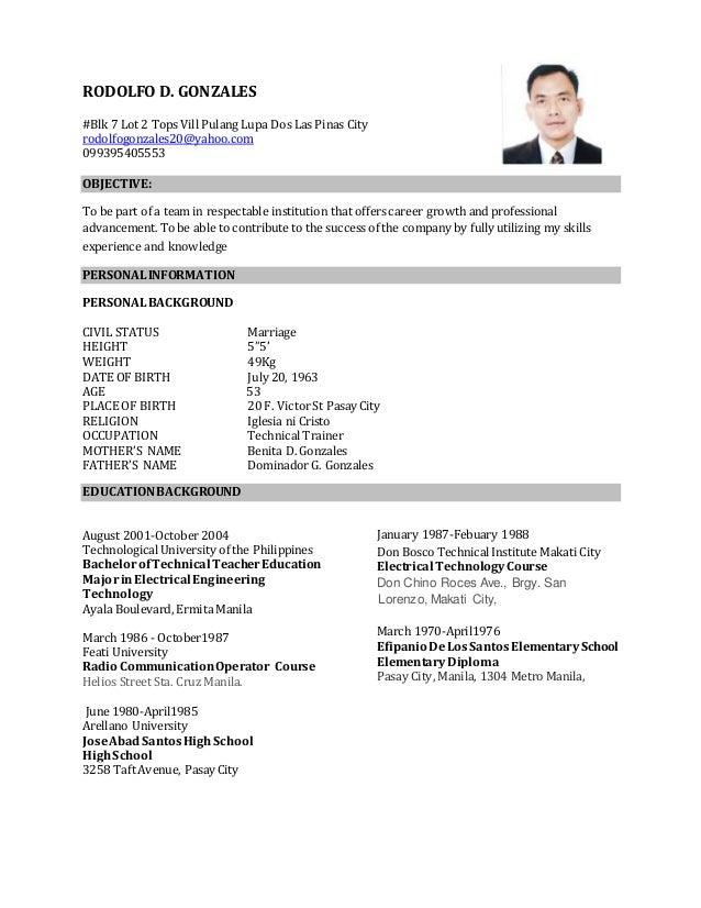 revise resume rod