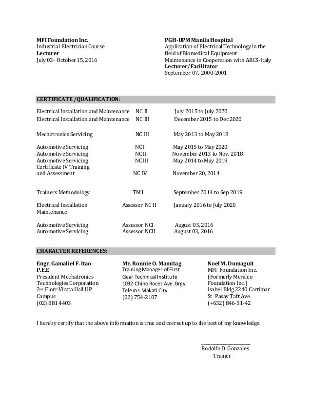 revise resume rod