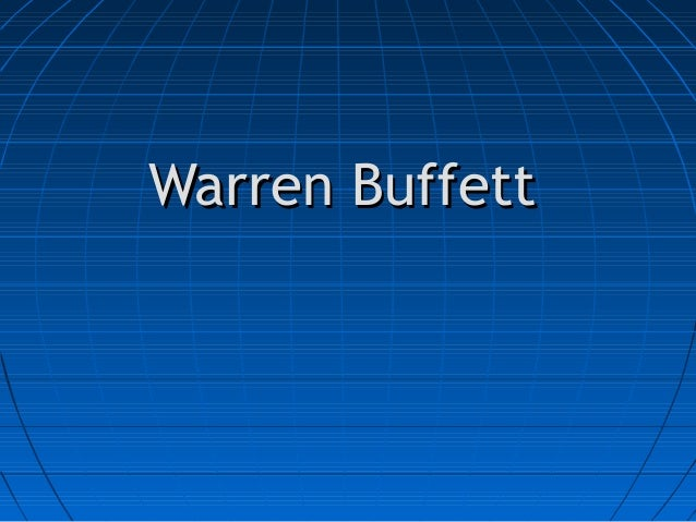 Warren BuffettWarren Buffett