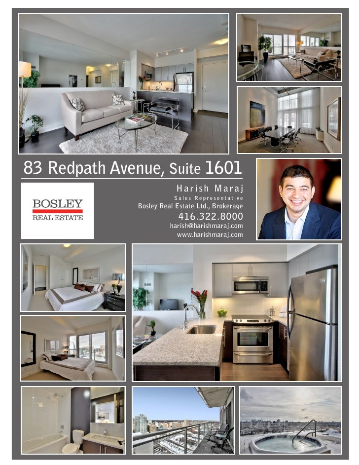 #1601-83 redpath ave Feature Sheet