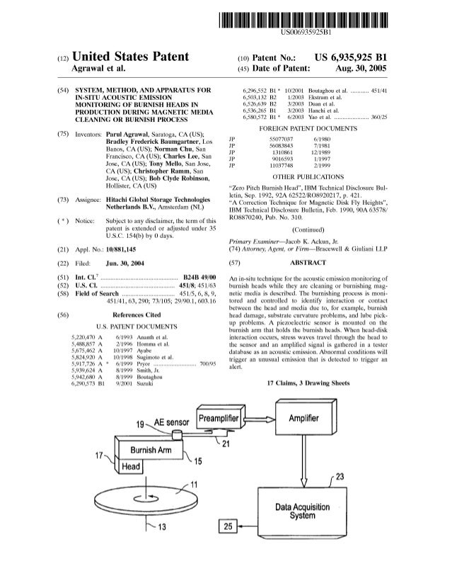 (12) United States Patent Agrawal et al. (54) SYSTEM, METHOD, AND APPARATUS FOR IN-SITU ACOUSTIC EMISSION MONITORING OF BU...