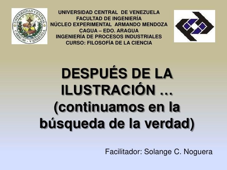 UNIVERSIDAD CENTRAL DE VENEZUELA          FACULTAD DE INGENIERÍA NÚCLEO EXPERIMENTAL ARMANDO MENDOZA           CAGUA – EDO...