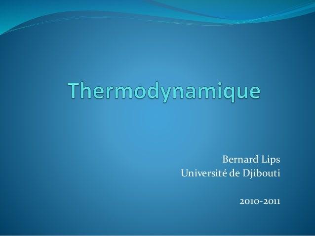 Bernard Lips Université de Djibouti 2010-2011