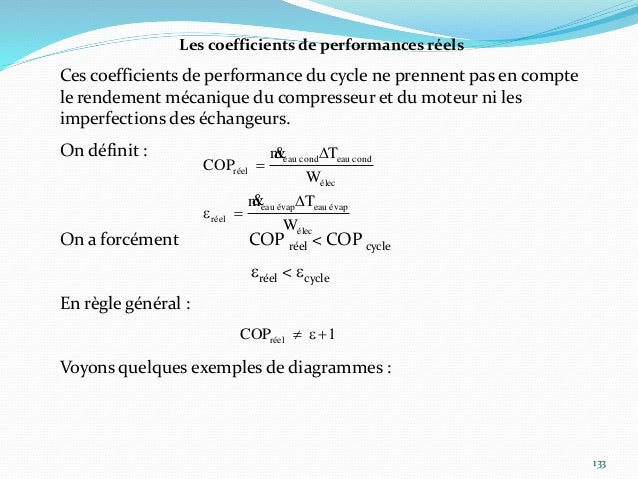 134 Le rôle du détendeur Les niveaux de pression du cycle sont déterminés par les températures respectives de la source fr...