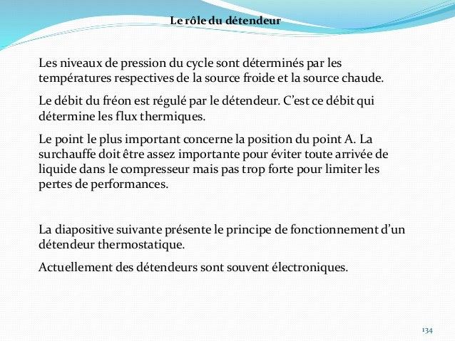 135 Détendeur thermostatique Si la surchauffe est trop faible, il faut « ouvrir » le détenteur. Si la surchauffe est trop ...