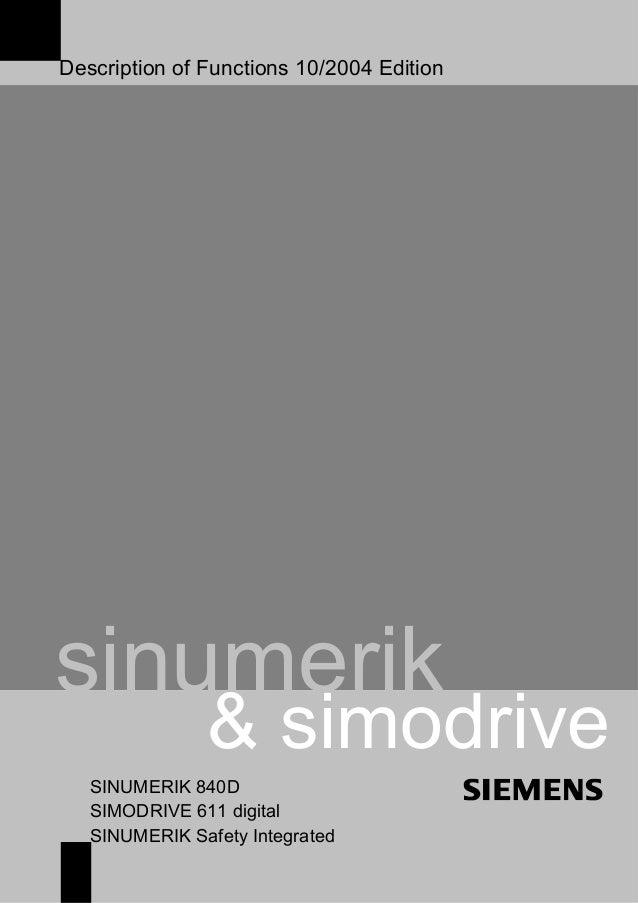 840 d funes e safety integrated description of functions 102004 edition sinumerik simodrive sinumerik 840d simodrive 611 digital sinumerik fandeluxe Image collections