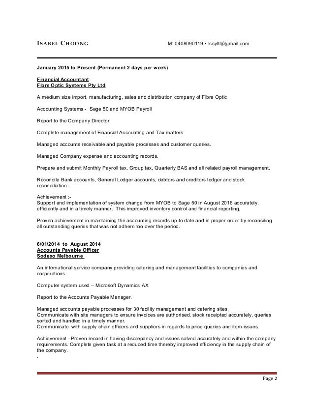 Isabel Choong Resume