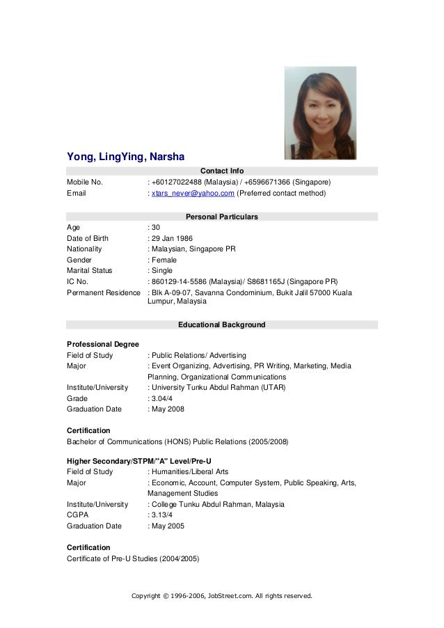 Sample Resume Download  free download customer service resume     Sample Resume Format for Fresh Graduates   One Page Format