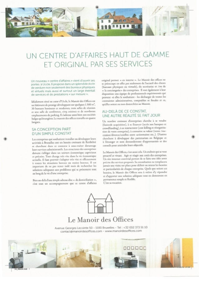 manoir secretaire de direction