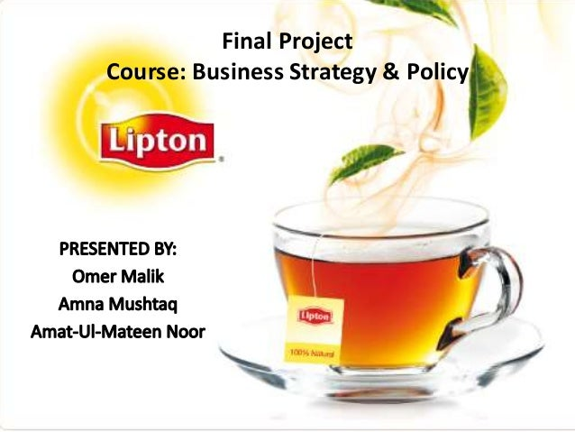 Final Project Course: Business Strategy & Policy
