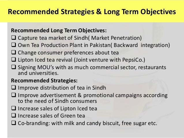 lipton marketing strategy Lipton has adopted an aggressive marketing strategy and positioned its beverage as a healthy brand through several promotional activities that highlight its main features quality, affordability and user friendliness.