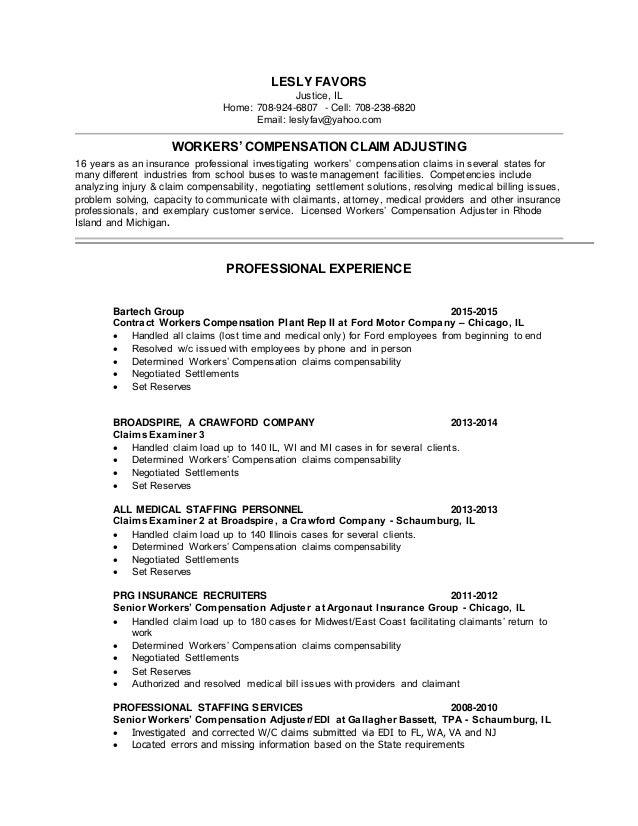 Insurance Claims Resume - Contegri.com