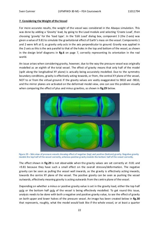 fea report Ansys fea (finite element analysis)  generating a report within workbench mechanical can produce extensive model information of potential interest,.