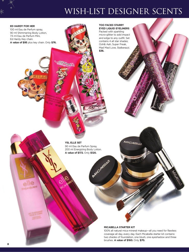 WISH-LIST DESIGNER SCENTS    ED HARDY FOR HER                                                      TOO FACED STARRY    100...