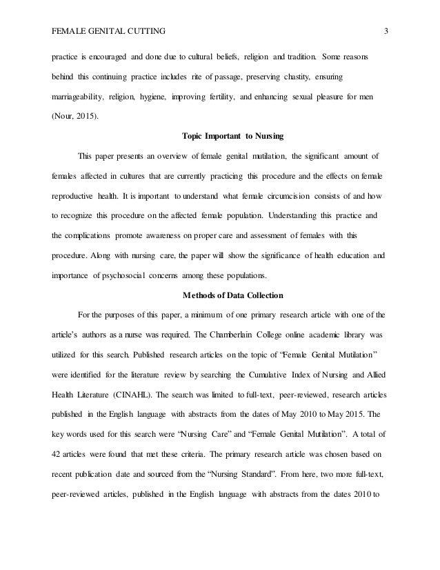Drug Abuse Essays Female Genital  Universal Declaration Of Human Rights Essay also Interpretative Essay Fgm Paper  Brave New World Essays