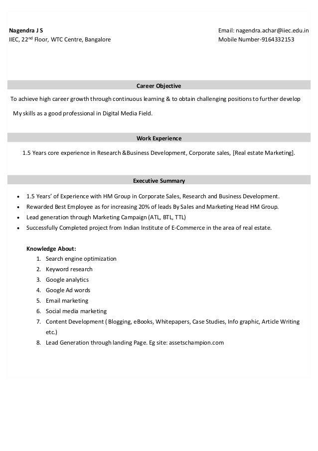 Nagendra JS-Resume pdf