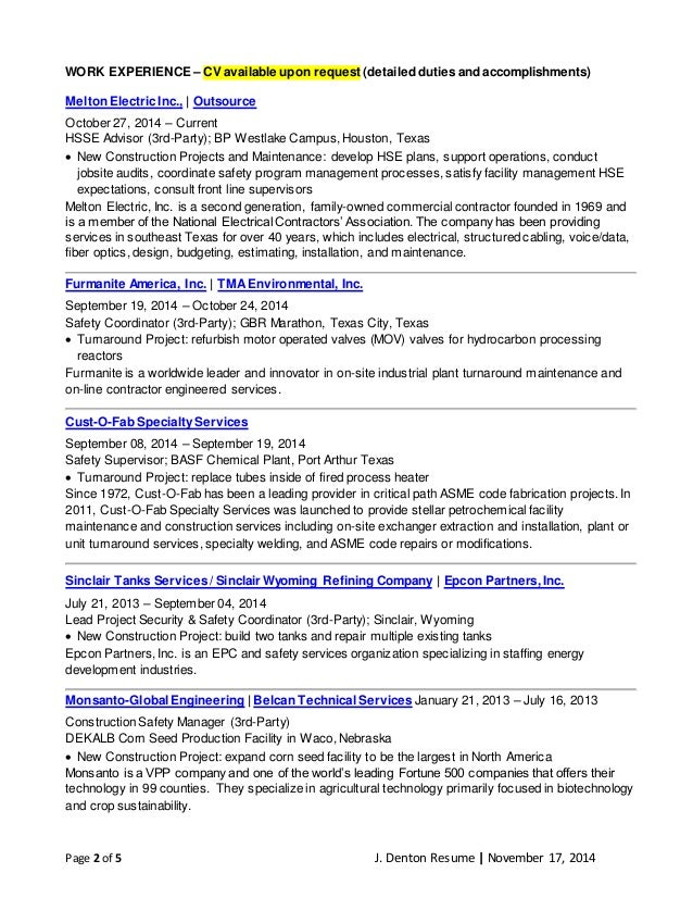safety resumes construction mechanical engineer resume safety officer