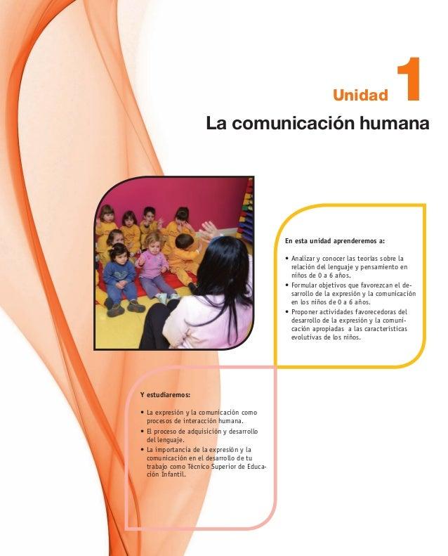 1Unidad En esta unidad aprenderemos a: •Analizar y conocer las teorías sobre la relación del lenguaje y pensamiento en ni...