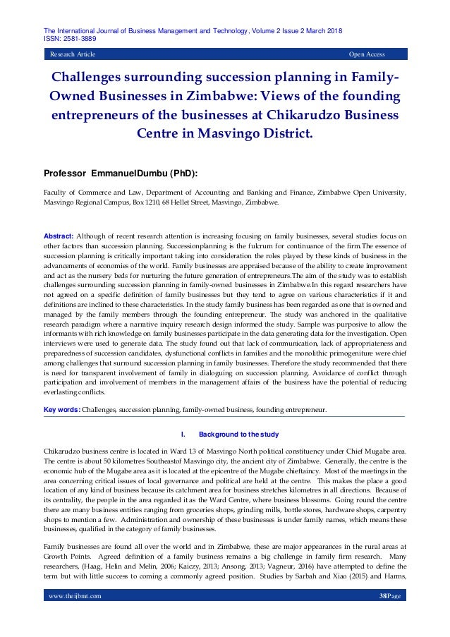 succession planning in family owned business