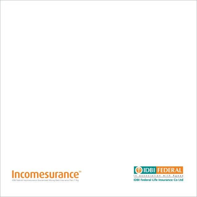 idbi federal incomesurance 6 pay
