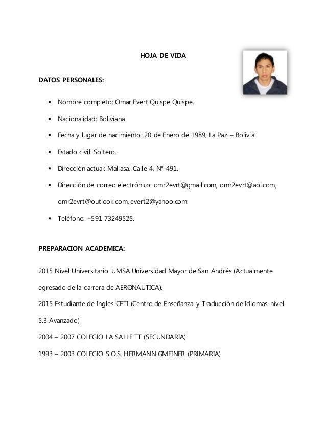 Curriculum Vitae Omar E Q Q Gmail