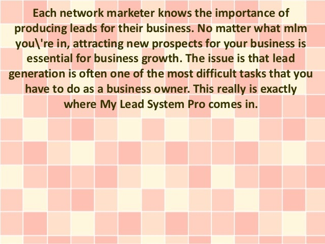 Each network marketer knows the importance of producing leads for their business. No matter what mlm youre in, attracting ...