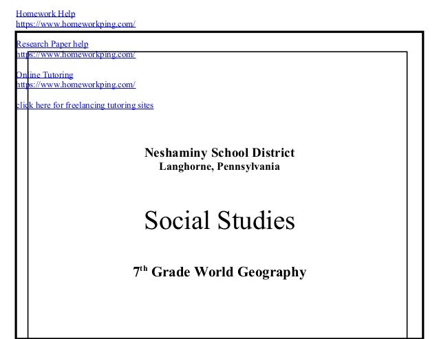 geography society homework help There are certain kinds of information that youngsters need in order to function adequately as competent members of society one of those areas is geography.