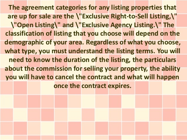 Real Estate Listing Agreements And The Secrets Not Many People Know