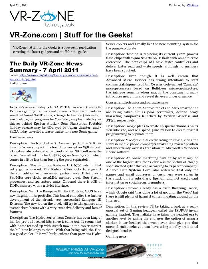 April 7th, 2011                                                                                                     Publis...