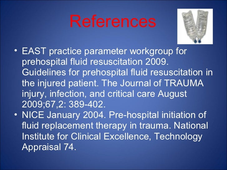 fluid resuscitation in the prehospital trauma patient Strategies for intravenous fluid resuscitation in trauma fluid resuscitation of trauma patients has been an influence of prehospital volume replacement on.