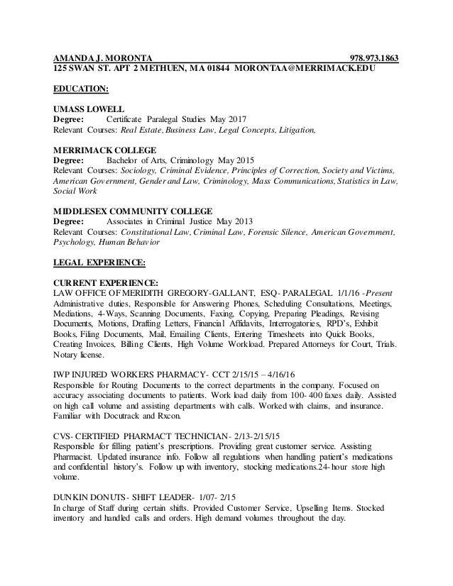 Buy criminal law resume