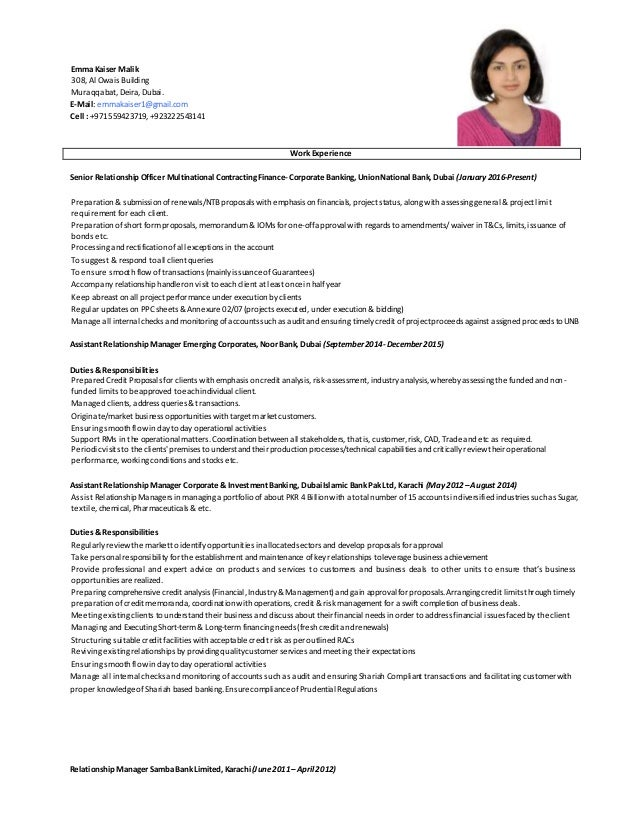 Relationship Manager Resume Corporate Banking. relationship ...
