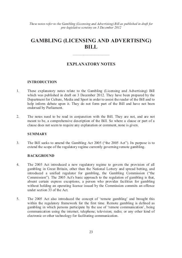 Casino licence uk