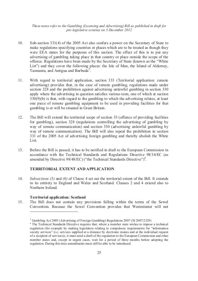 Gambling bill explanatory notes perfume oil for gambling