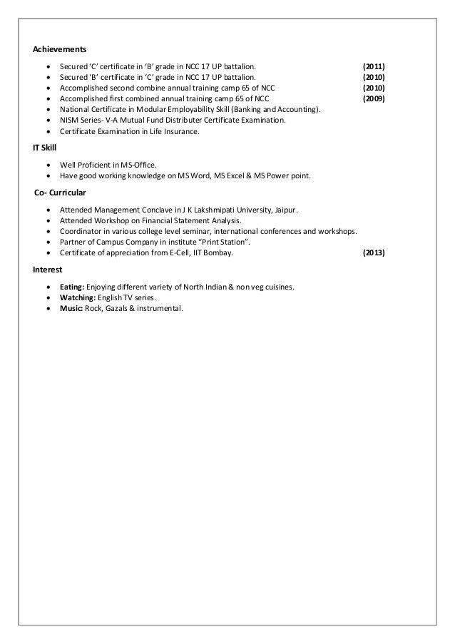 Resume ranashubhamsrivastava 2 yelopaper Gallery