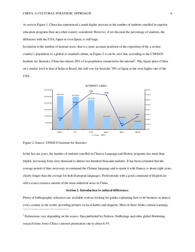 CHINA. A CULTURAL STRATEGIC APPROACH 6 As seen in Figure 1, China has experienced a much higher increase in the number of ...