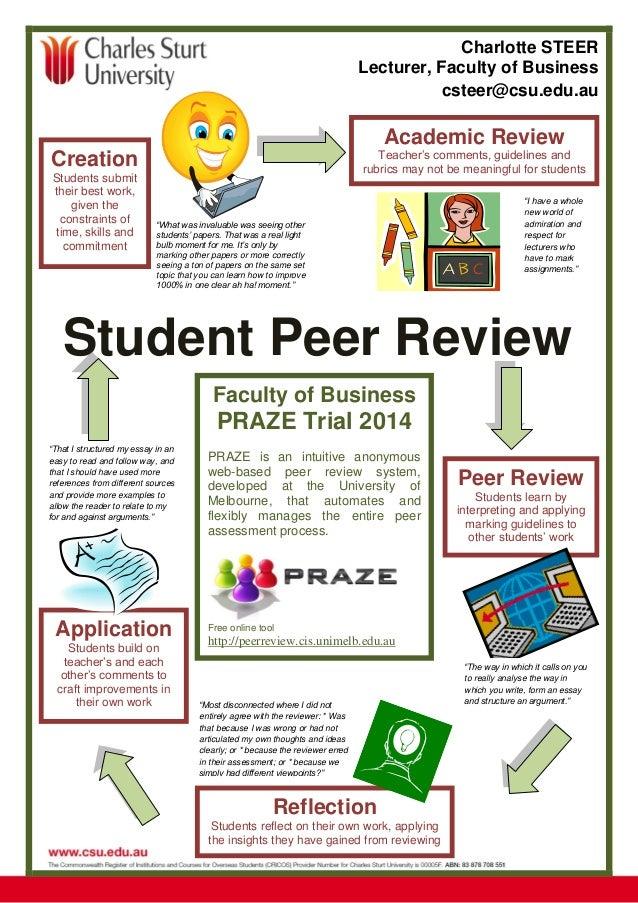 student peer review