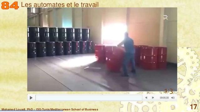 Mohamed Louadi, PhD – ISG-Tunis/Mediterranean School of Business 17 01:31 1:3 1 Les automates et le travail
