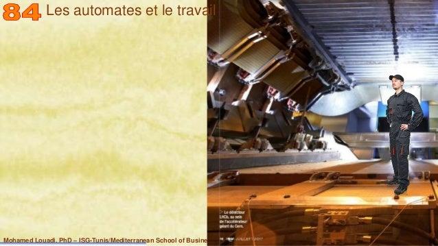 Mohamed Louadi, PhD – ISG-Tunis/Mediterranean School of Business 18 Les automates et le travail