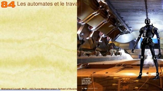 Mohamed Louadi, PhD – ISG-Tunis/Mediterranean School of Business 20 Les automates et le travail